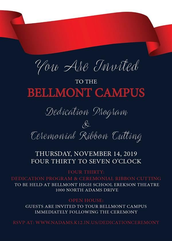 Bellmont Campus Dedication Invitation