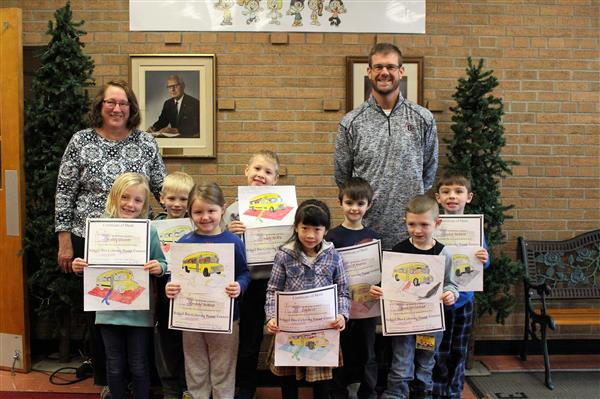 Bus Safety Coloring Contest Winners at SE