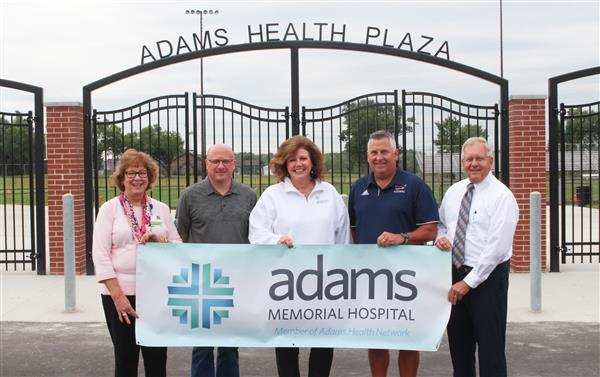 New BHS Football Plaza Named Adams Health Plaza